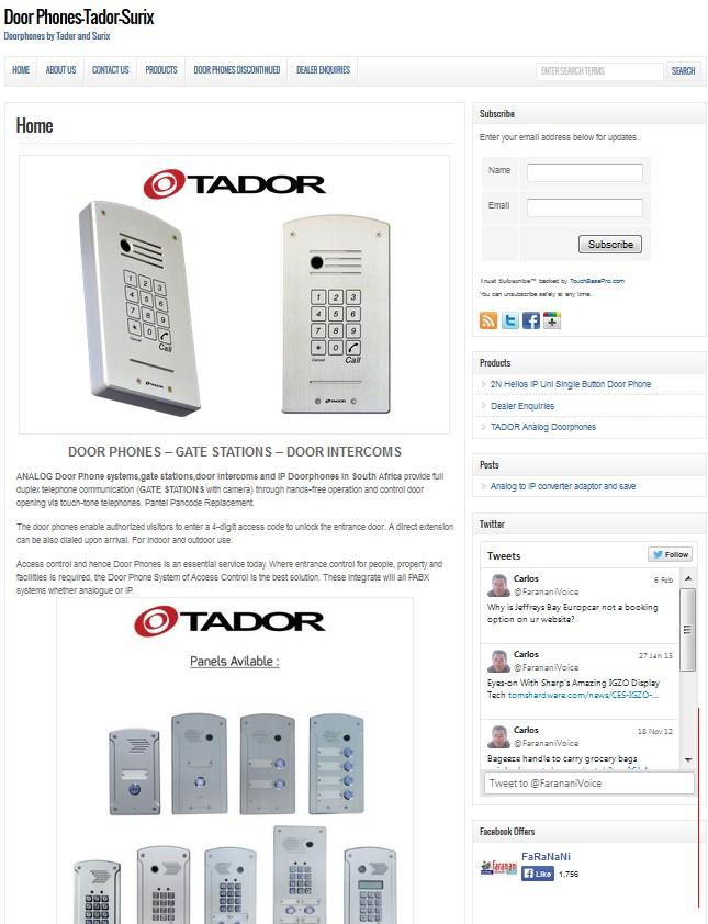 tador-doorphones-website