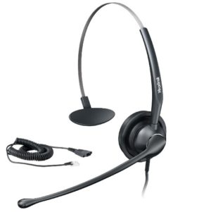 Plantronics Practica SP12 Binaural Headset RJ9 bottom cable